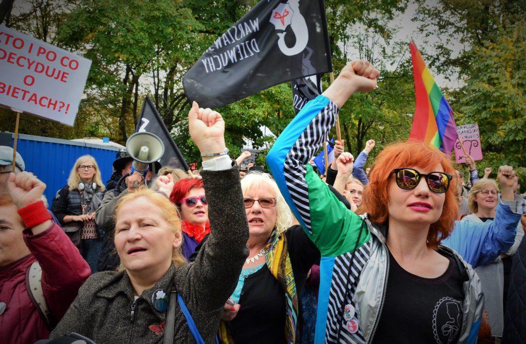 """Demonstracja """"Wolne Polki - Wolna Polska. Wszyscy za jedną, jedna za wszystkich"""""""