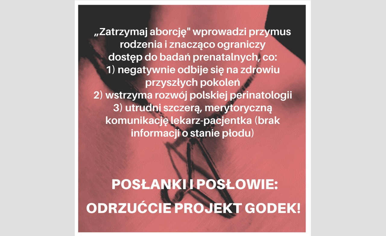 """Apel do Posłanek i Posłów o odrzucenie projektu ustawy """"Zatrzymaj aborcję"""""""