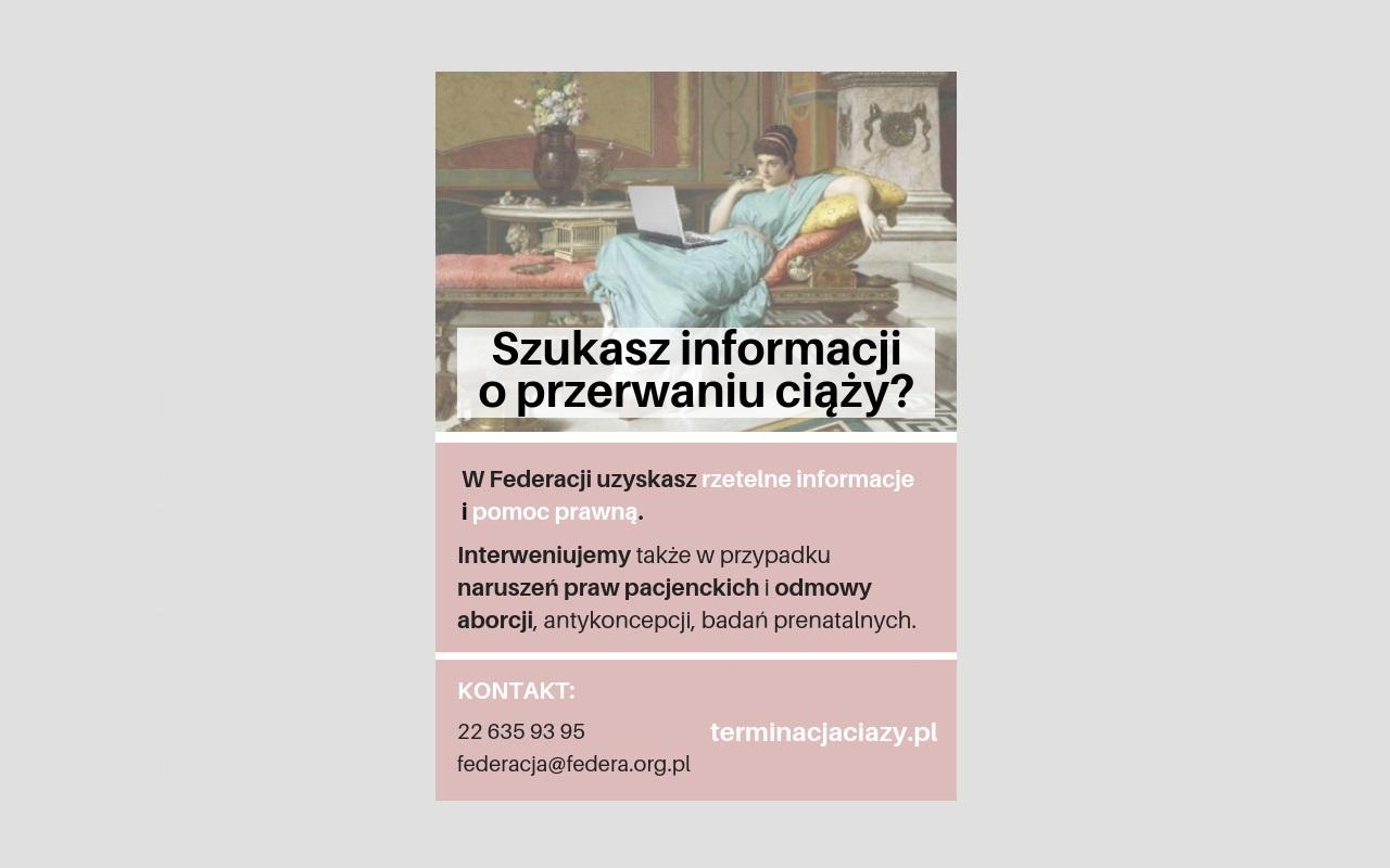 Poradnik o aborcji ustawowej – informacje prawne i praktyczne, przed, w trakcie i po terminacji ciąży