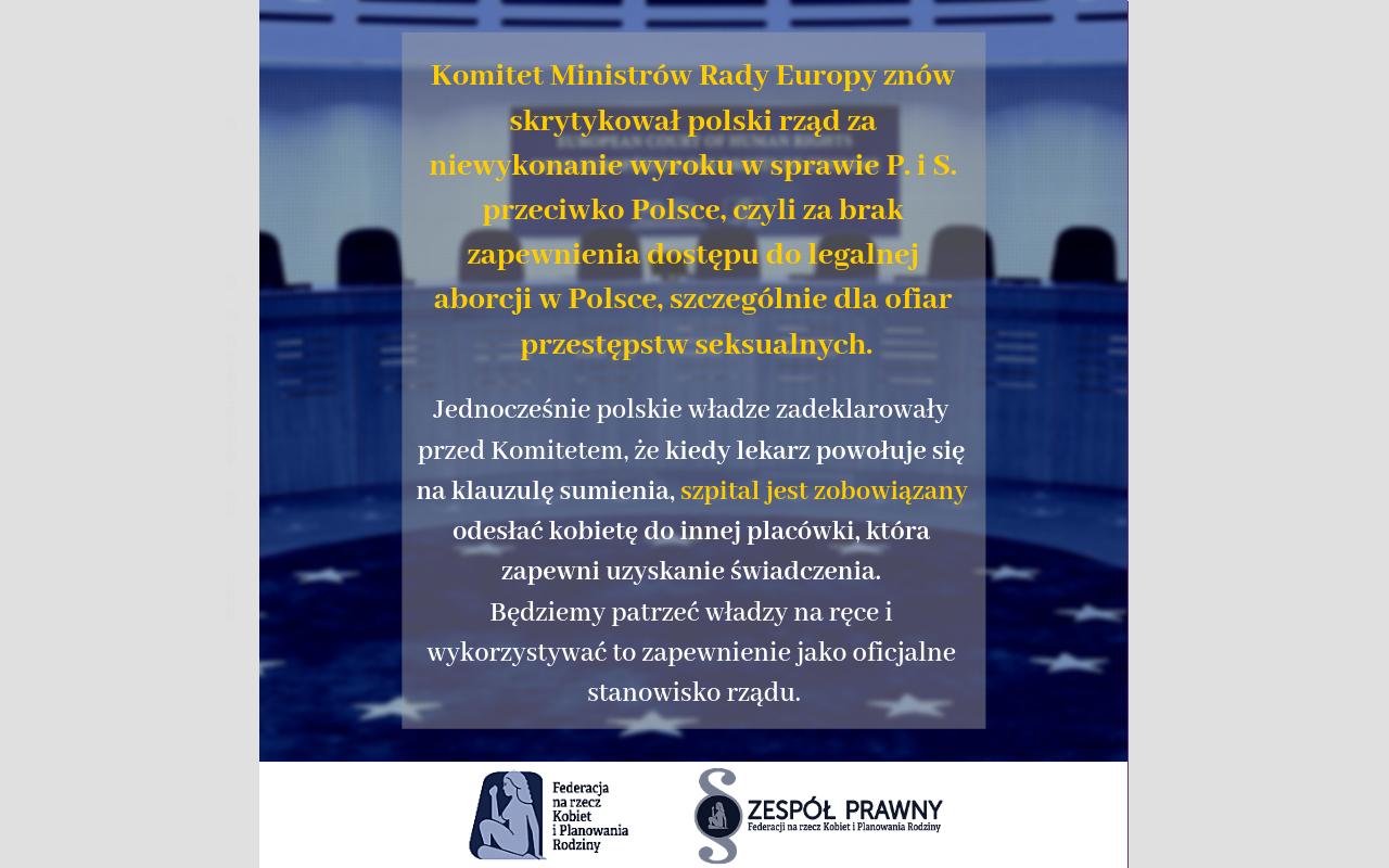 Polska znów ostro krytykowana za niewykonanie wyroków ETPCz