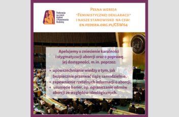 CSW64_feministyczna deklaracja