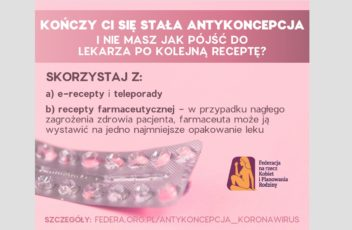 recepta antykoncepcja koronawirus