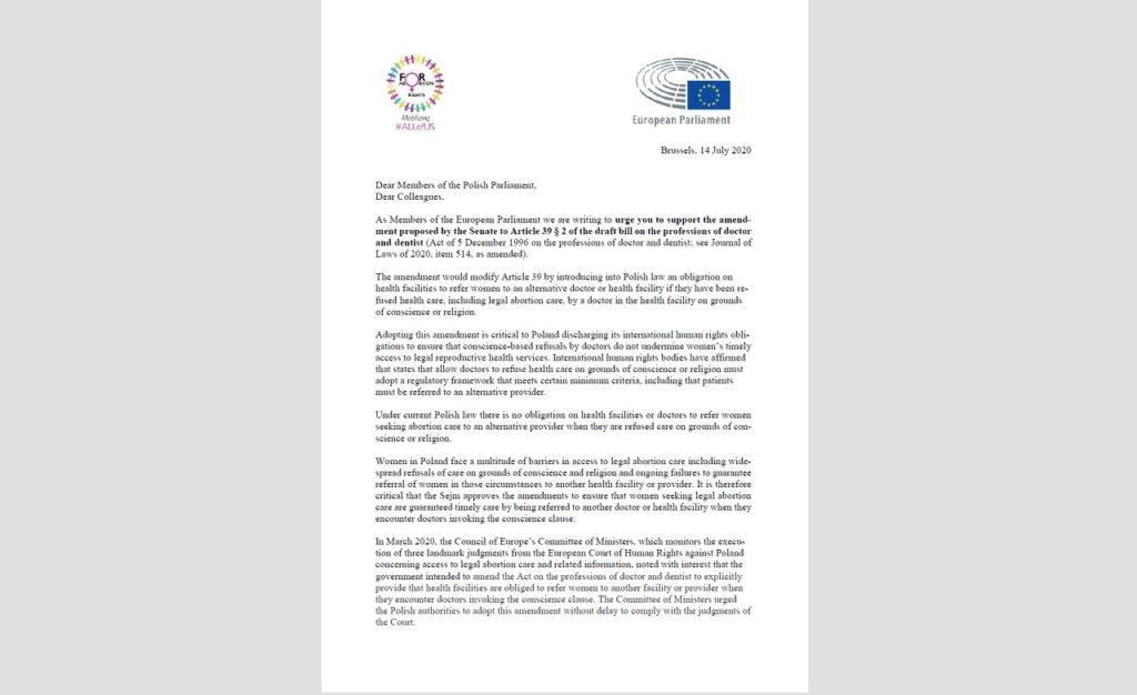 EUROPARLAMENTARNA GRUPA ALL OF US APELUJE DO SEJMU O OBOWIĄZEK INFORMACYJNY SZPITALI